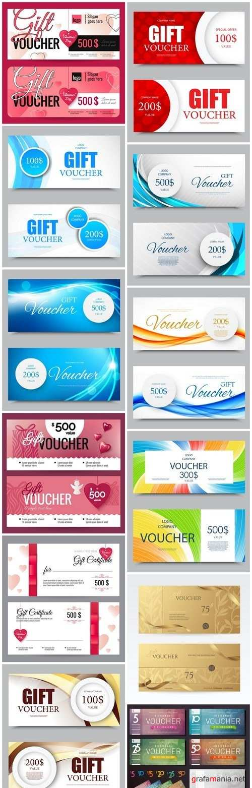Gift Voucher Collection #28 - 12 Vector