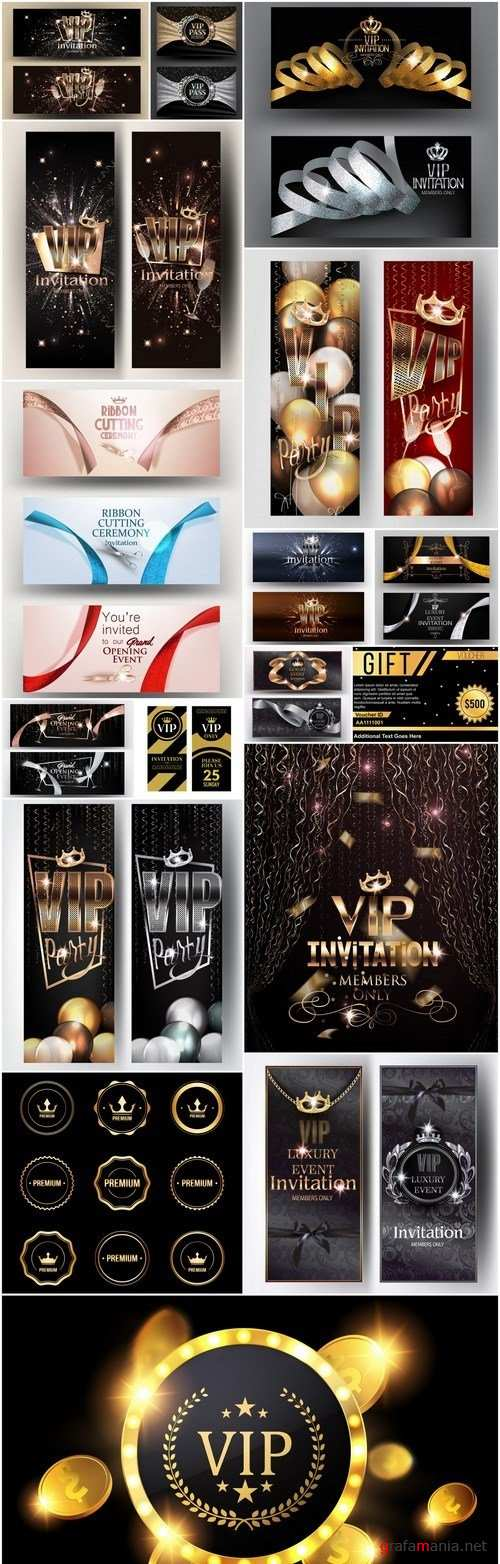 Luxury Vip Invitation Design Elements - 17 Vector