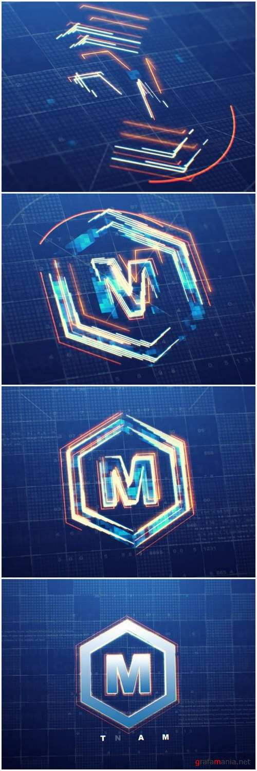 Digital Logo Reveal After Effects Templates