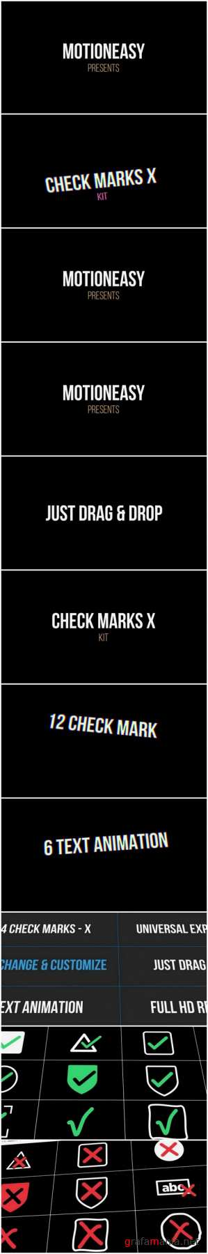 Check Marks X Kit After Effects Templates
