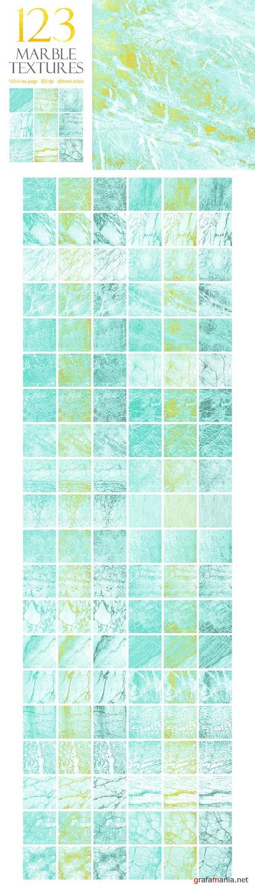 123 Marble Blue & Gold Textures 1410833
