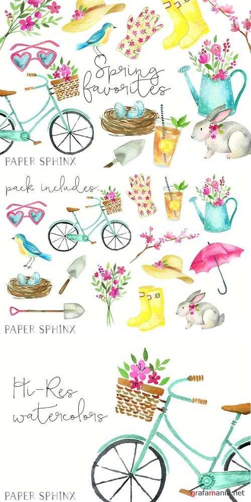 Watercolor Spring Clipart 1422326