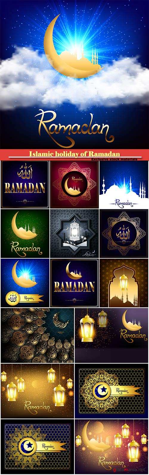 Vector background Islamic holiday of Ramadan