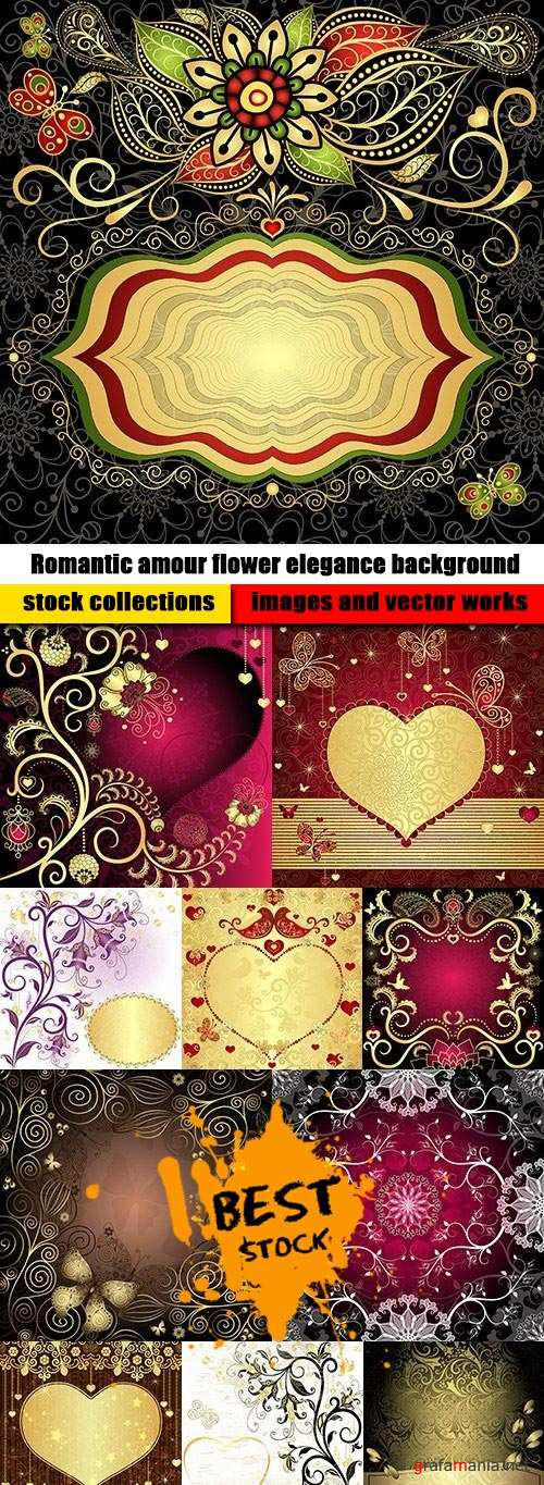 Romantic amour flower elegance background