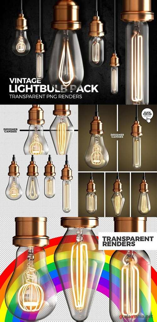 Vintage Lightbulb Renders Pack 1448672