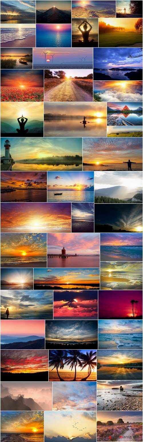 Beautiful sunsets and sunrises - 50xUHQ JPEG