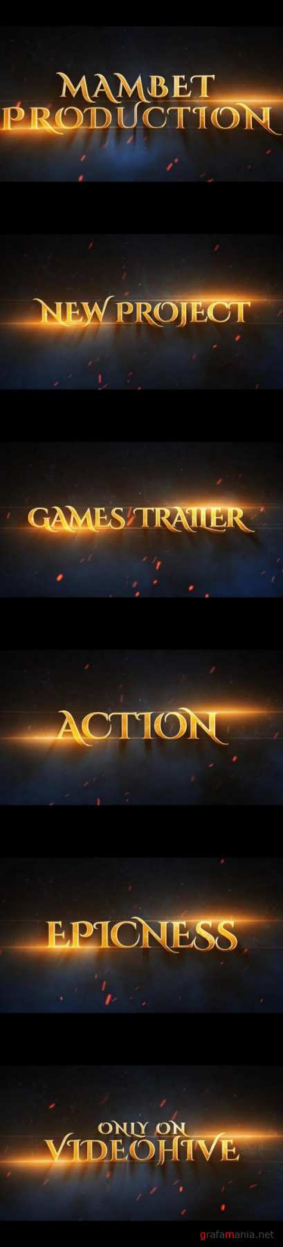 Videohive 19880119 games epic trailer