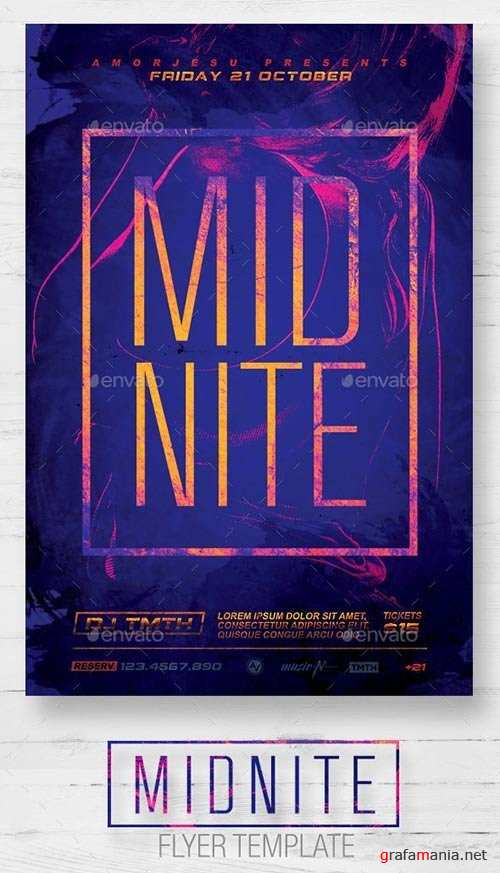 Midnite Flyer Template 12631201
