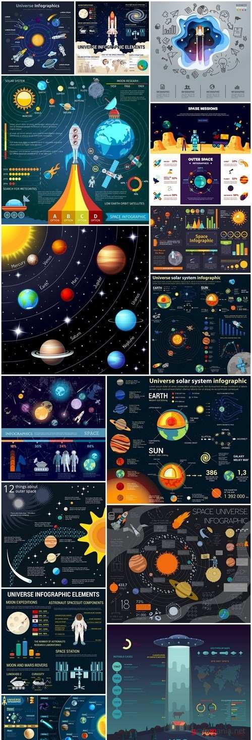 Space Infographics - 15 Vector