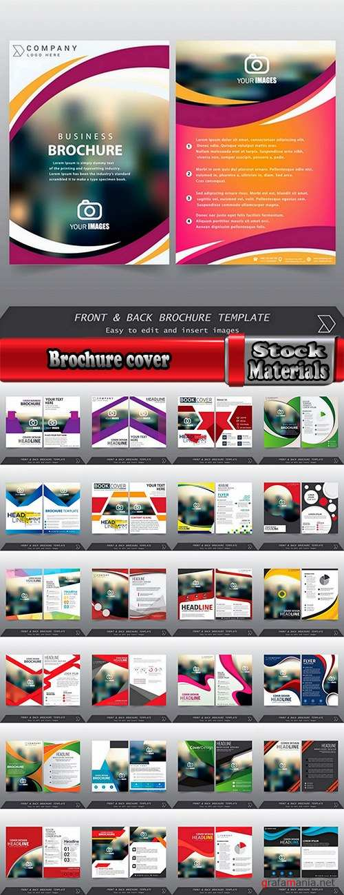 Brochure cover magazine book notepad 25 EPS