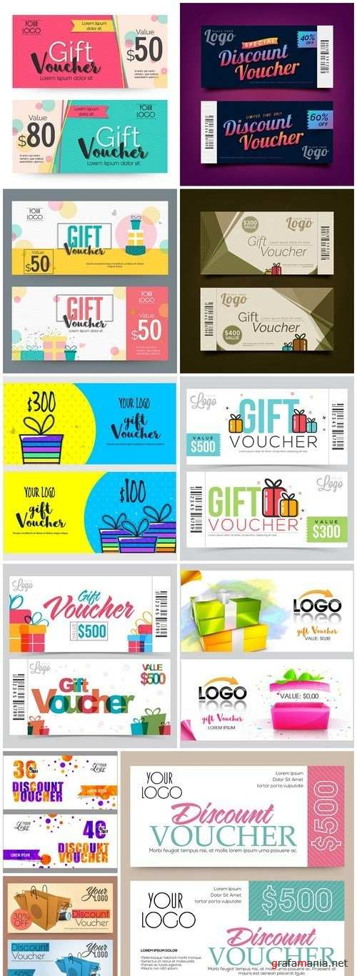 Gift Voucher Collection #27 - 11 Vector