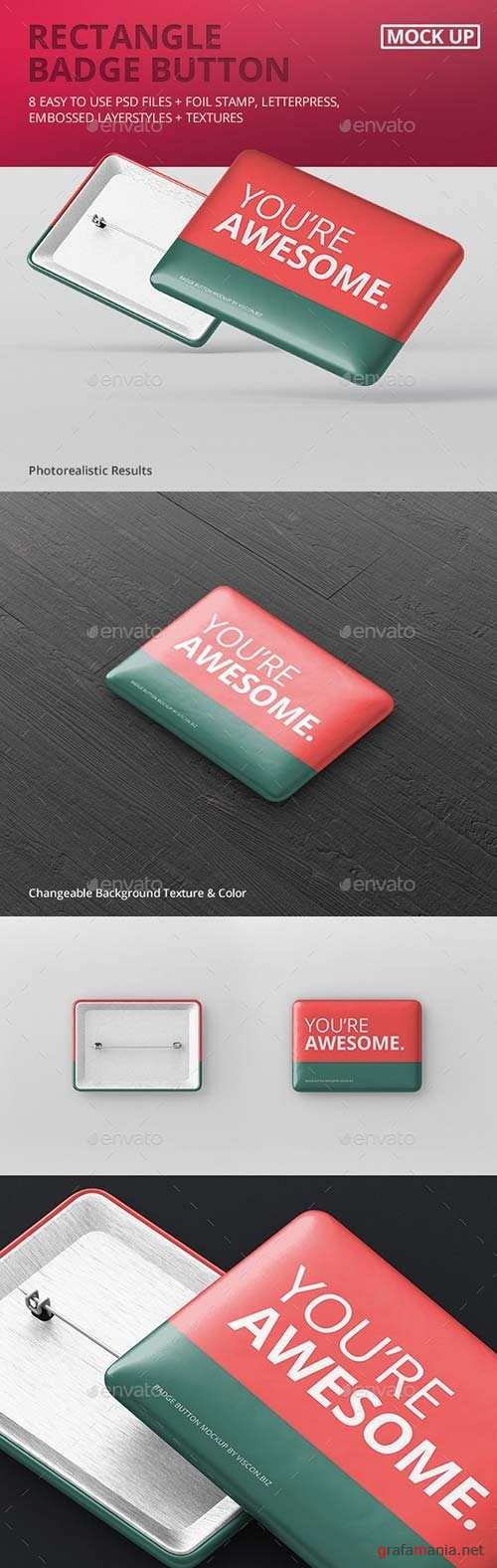 Rectangle Badge Button Mockup 19282126