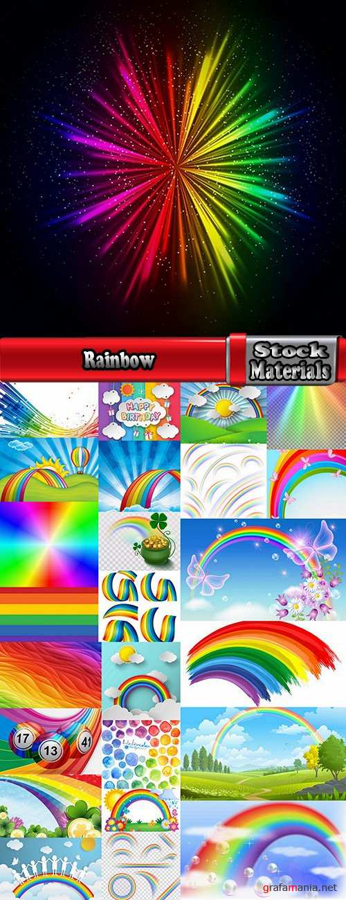 Rainbow is a natural phenomenon of a different color 25 EPS