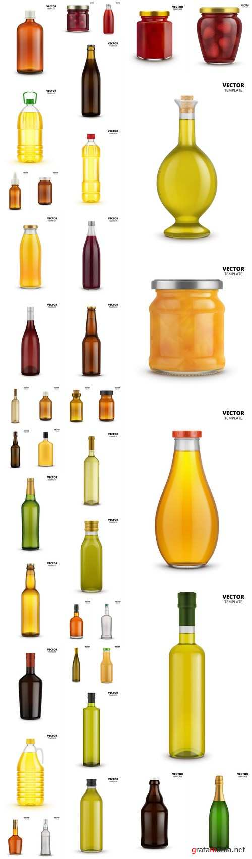 Bottle Mockup – 40 Vector