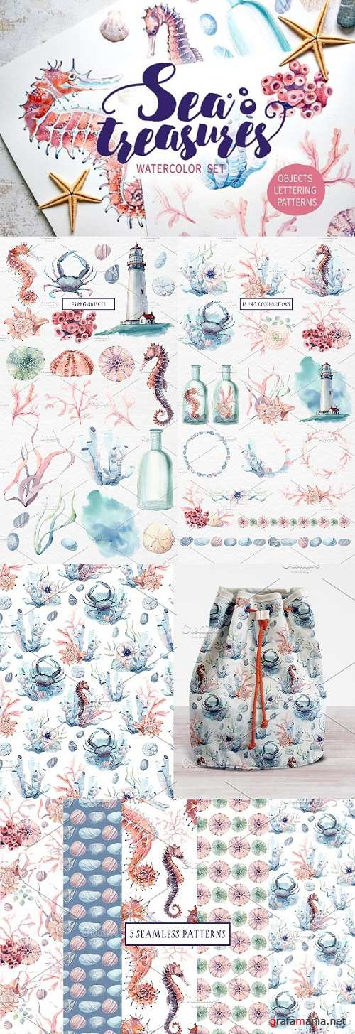 SEA TREASURES Watercolor set 1329362