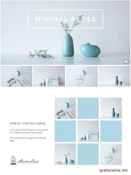 Styled Stock Photos | Minimal Blues 1235140