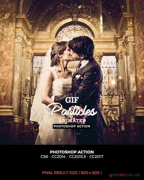 Gif Particles Photoshop Action - 19909869