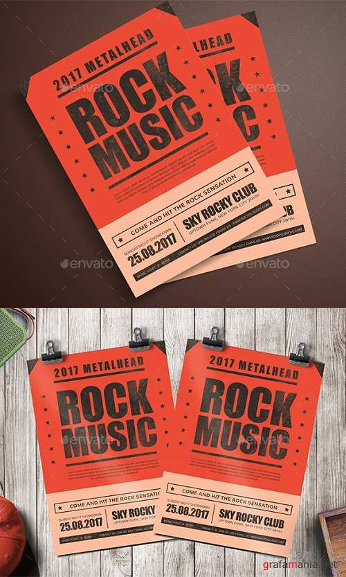 Rock Music Flyer 20003819