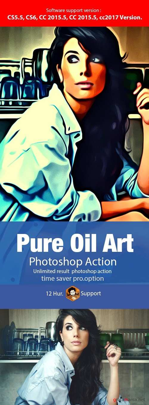 Pure Oil Art Action 19964724