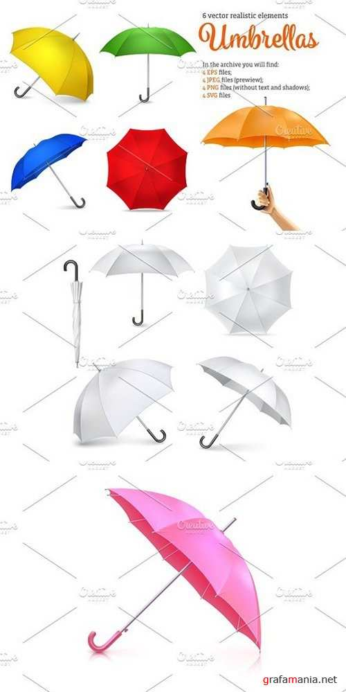 Realistic Umbrella Set 1448252