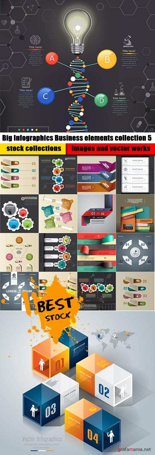 Big Infographics Business elements collection 5