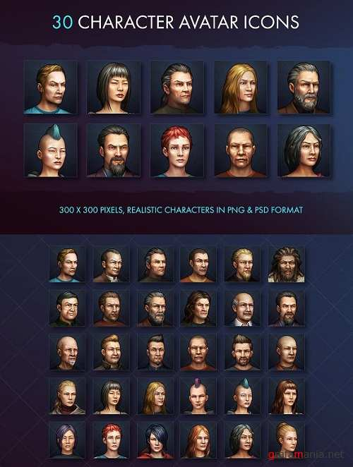 Character Avatar Icons - Modern - 1479706