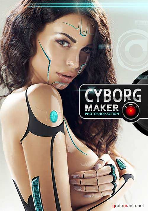 GraphicRiver Cyborg Maker PS Action