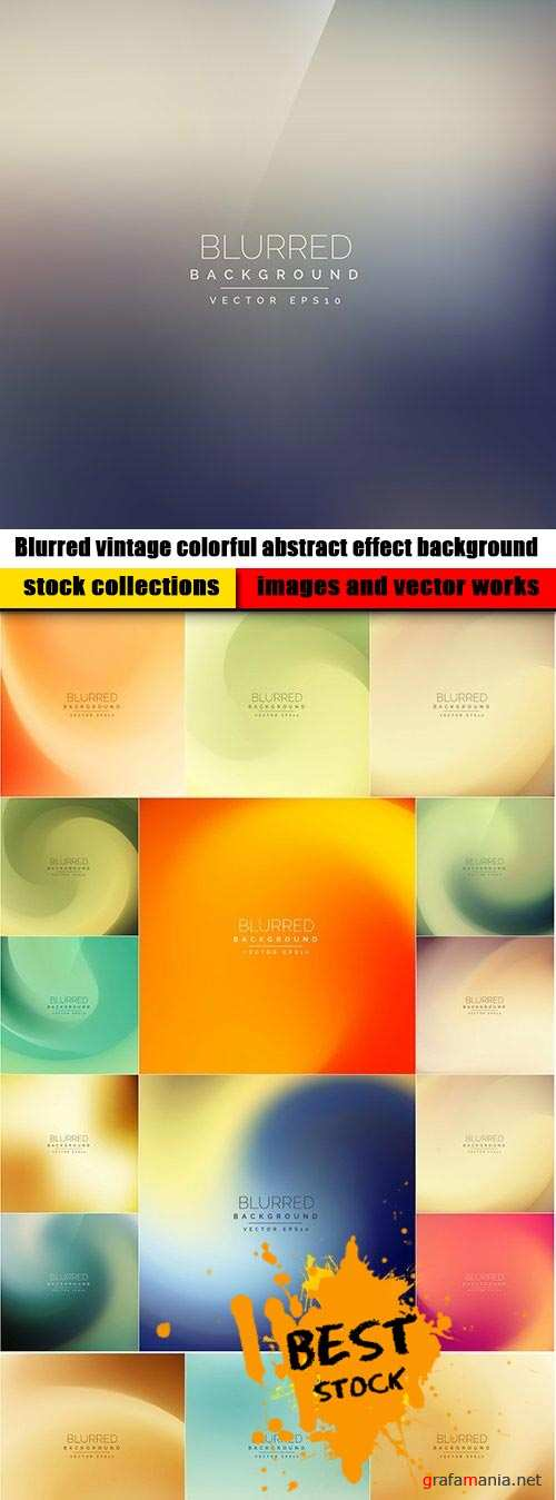 Blurred vintage colorful abstract effect background