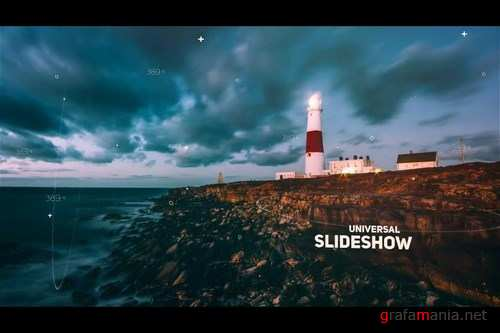 Futuristic Parallax Slideshow After Effects Templates
