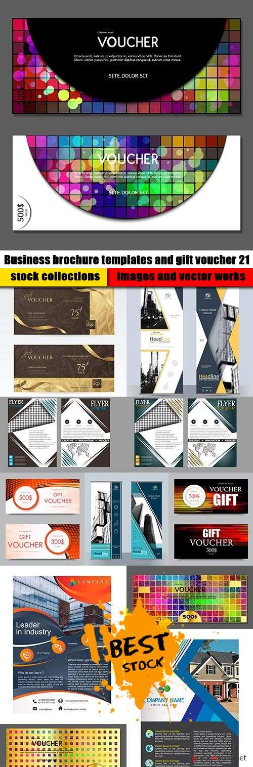 Business brochure templates and gift voucher 21