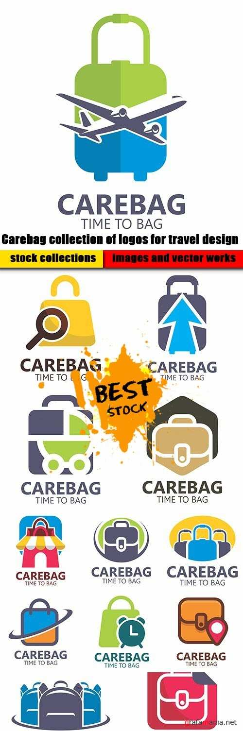 Carebag collection of logos for travel design