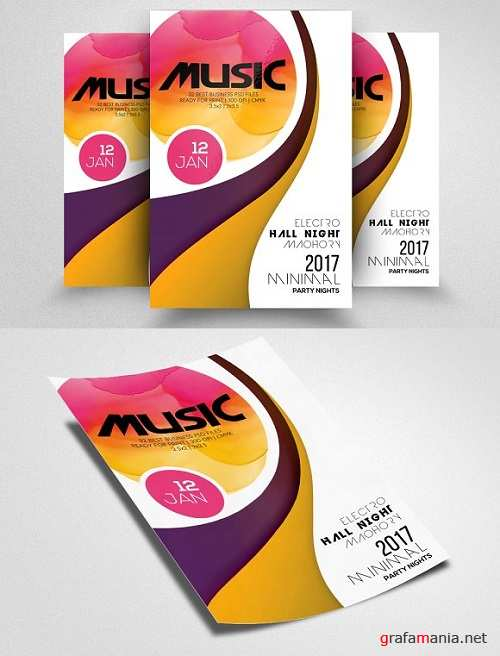 Futuristic Music Flyer Template 1514581