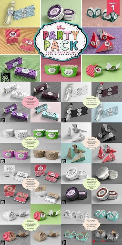 Vol.1 Party Packaging MockUps 1460536