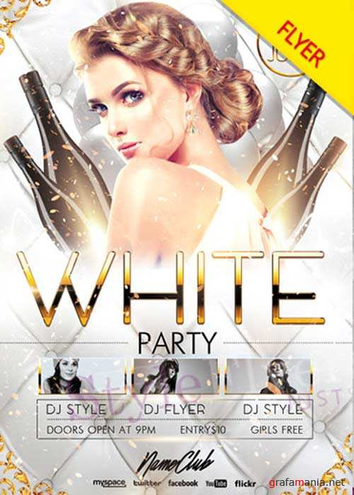 White Party V41 Flyer PSD Template