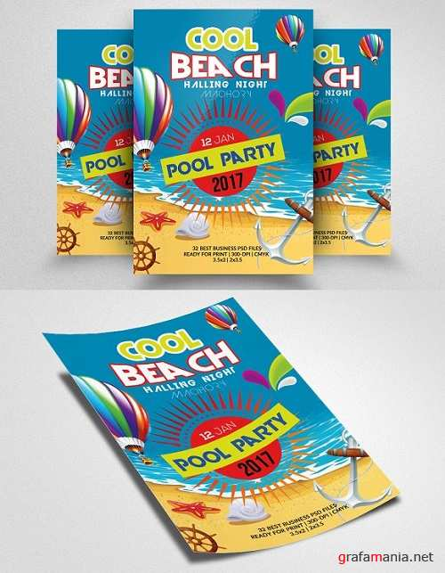 Summer Beach Party Flyer 1514804