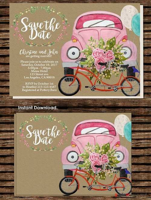 DIY Wedding Car Printable Invitation 1544355