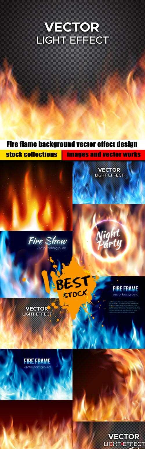Fire flame background vector effect design