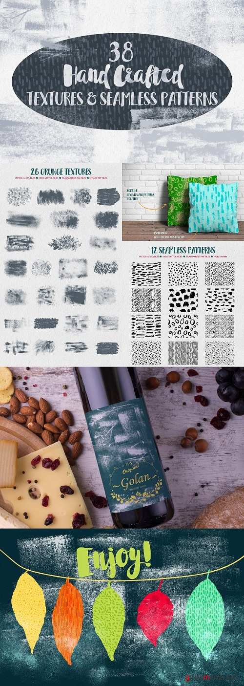 Hand Crafted Textures and Patterns 1243549