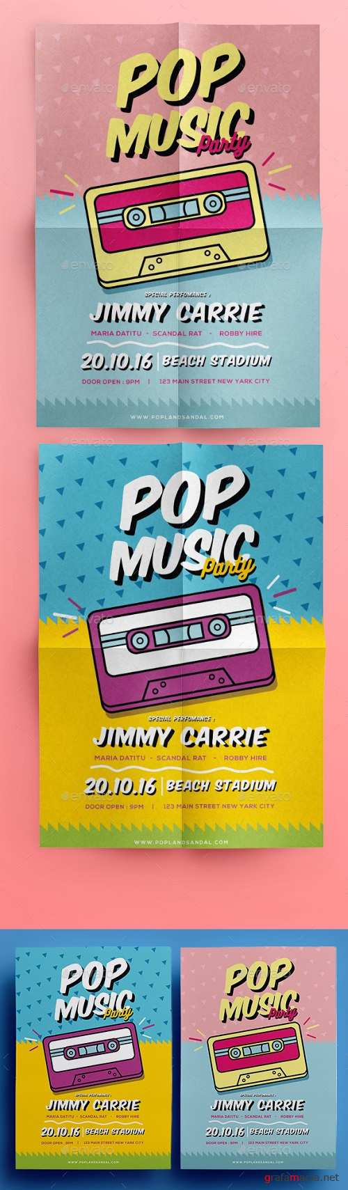Pop Music Flyer 17494833