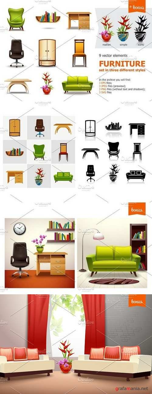 Furniture and Interior Set 1243559