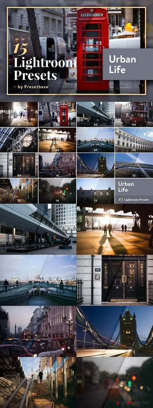 15 Lightroom Presets - Urban Life 1243287