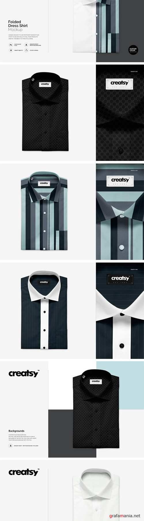 Folded Dress Shirt Mockup - 1411206
