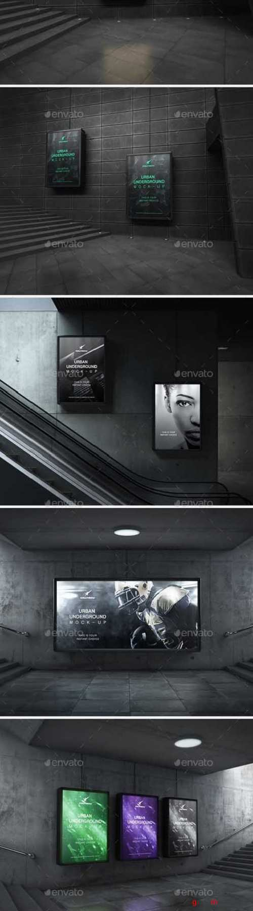 Urban Underground Lightbox / Billboard Mock-Ups 19782095