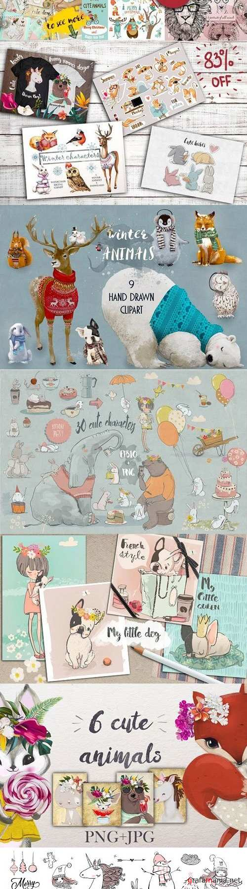 Cute animals bundle 1354232