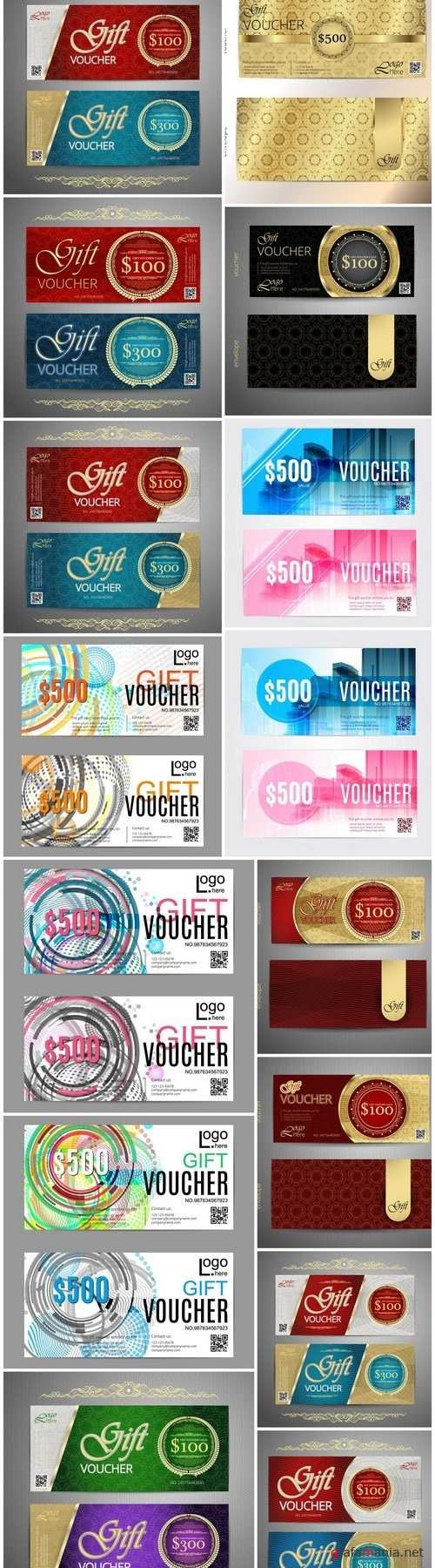 Collection of gift cards and vouchers 3 - 15xEPS