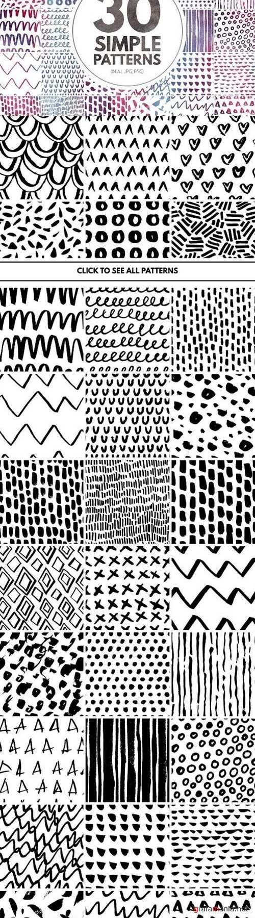 30 Simple Seamless Patterns 851799