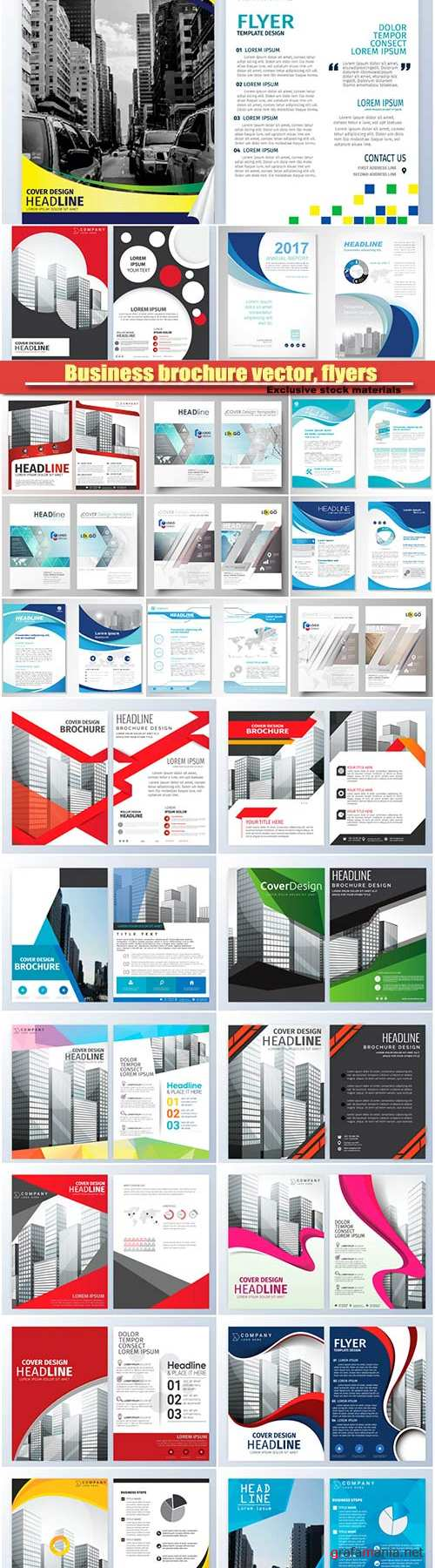 Business brochure vector, flyers templates #16