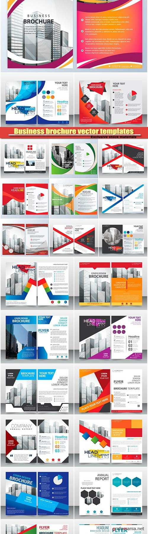 Business brochure vector templates design #16