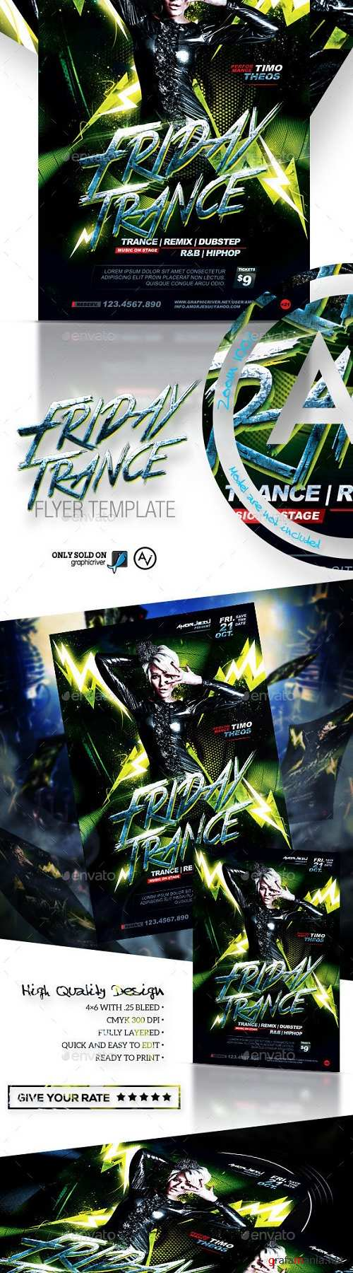 Friday Trance Flyer Template 11582071