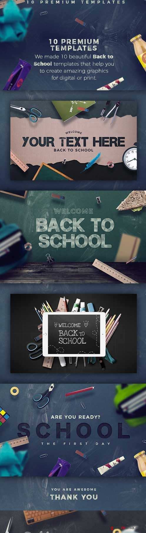 Back To School - 10 Hero Image Templates 19947685
